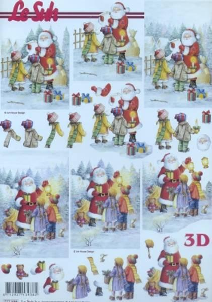 3D ark - julenisse og barn