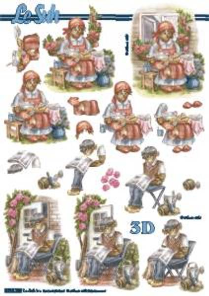 3D ark - Halm dame og mann