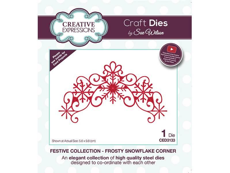 Creative Expressions Die – Frosty Snowflake Corner